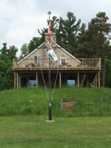 2 Beaver Lodge - Front view flag pole