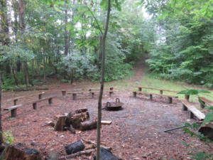 5 Beaver - campfire area at bottom of hill