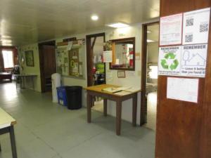 6 Beaver - main floor - view inside back door to kitchen, dining area, washroom  bedroom