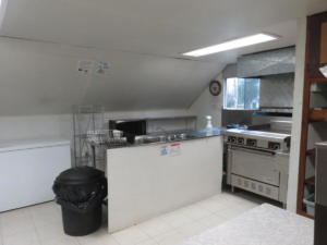 7 Beaver - main floor -Kitchen stove hotplate micowave chest freezer