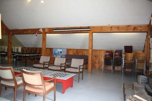 15 Beaver Lodge main floor - additional folding chairs