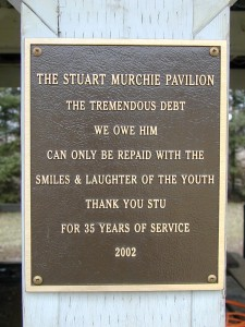 2 Stu Murchie Pavilion - plaque
