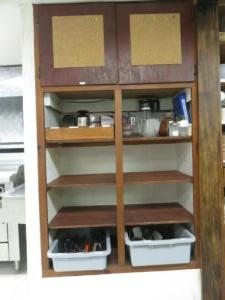 11  Beaver - main floor -Kitchen cooking utensils and supply space