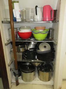 13 Beaver - main floor - pitchers, bowls, pots  pans