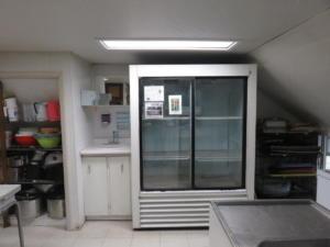 15 Beaver - main floor -Kitchen fridge  hand wash sink